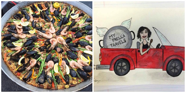 Paellaandcarcollage
